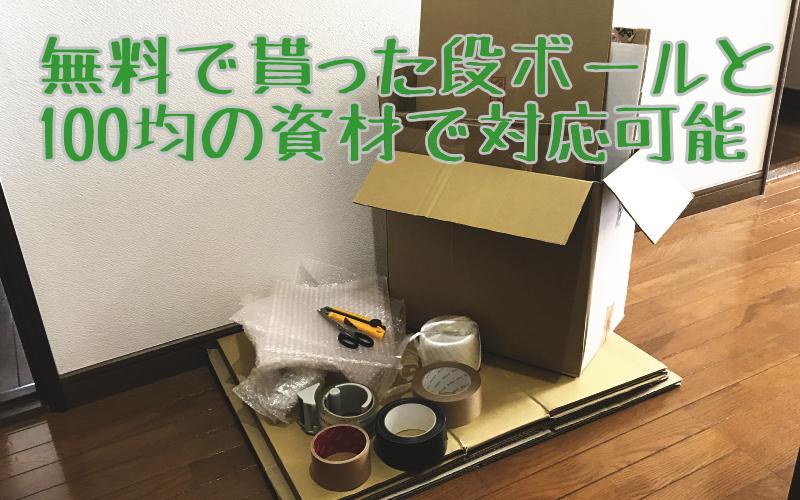 無料の段ボールと梱包資材のイメージ